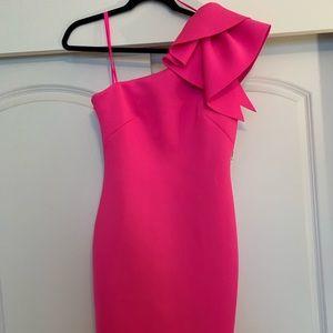 NWT Hot pink one-shoulder dress!
